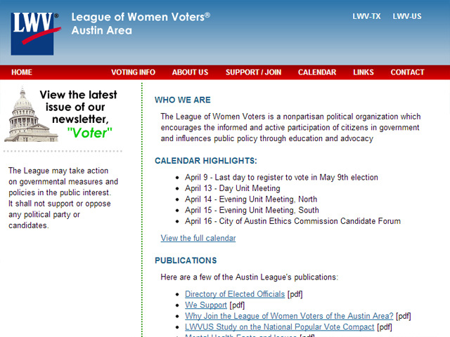 League of Women Voters of Austin