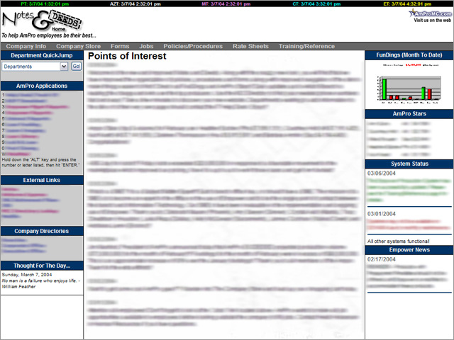 Notes & Deeds Intranet